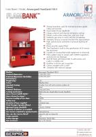 Armorgard FlamBank FBC4 - Strong hazardous vault for storing hazardous goods safely and securely