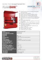 Armorgard FlamBank FBC5 - Strong hazardous vault for storing hazardous goods safely and securely