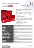 Armorgard FlamBank FBC8 - Strong hazardous vault for storing hazardous goods safely and securely