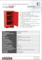 Armorgard FlamStor Cabinet FSC1 - Secure cabinet for keeping hazardous substances safe