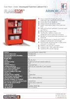 Armorgard FlamStor Cabinet FSC2 - Secure cabinet for keeping hazardous substances safe, organised and accessible
