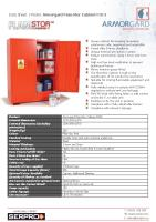 Armorgard FlamStor Cabinet FSC3 - Secure cabinet for keeping hazardous substances safe