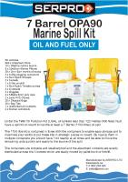 7 Barrell 1100 Litre OPA90 Marine Spill Kit from SERPRO