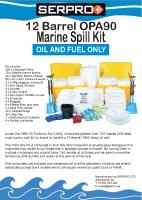 12 Barrel 1900 Litre OPA90 Marine Spill Kit from SERPRO