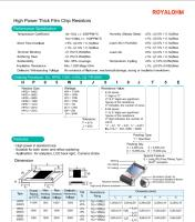 High Power Thick Film Chip Resistors