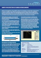 Sniffit for Detection of Subsea Hydrocarbons Factsheet