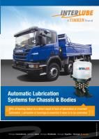 Automatic Lubrication Systems for Chassis & Bodies