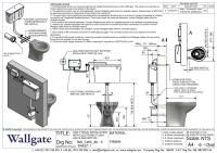 CWC-80 Installation Drawing showing electronic flush