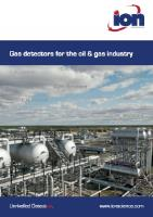 Gas detectors for the oil & gas industry