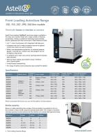 Front Loading autoclave brochure