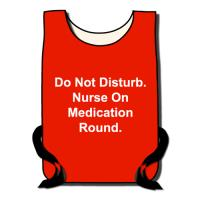 Washable Red Nurses Tabards