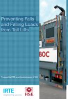 Preventing falls tail lift guide