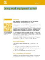 Using work equipment safely
