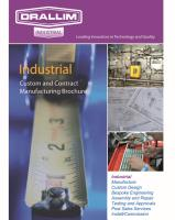 Service and Design - contract Manufacturing Brochure