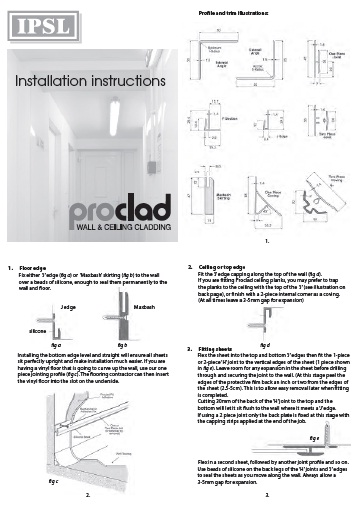 Proclad Web Installation Instructions