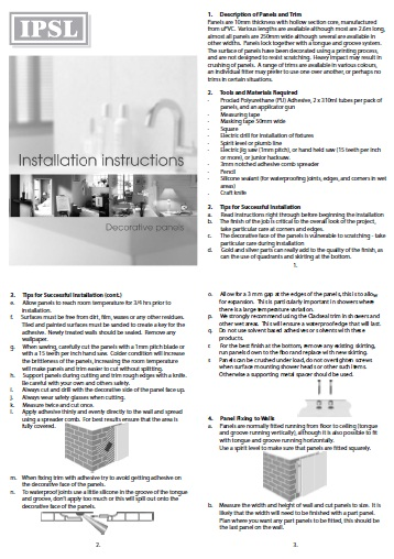 Decorative Web Instructions