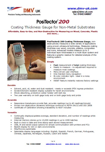 PosiTector 200 (Non-Metal Substrates)coating thickness gauge