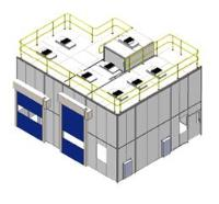 ISO 8 Monobloc Partition System with HEPA-lite™ Canopy