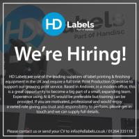 We are Hiring! – Print Production Operative