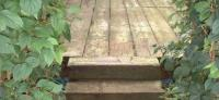 DECKING / PATIOS with railway sleepers