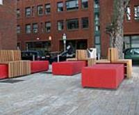 Public plaza furniture, Rathmines