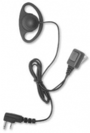 D Ring Kenwood 2 pin Covert Earpiece