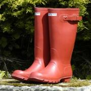 Ladies Red Hunter Wellington Boots