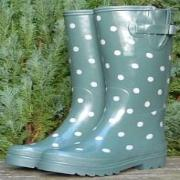 Ladies Teal Spot Cath Kidston Wellington Boots