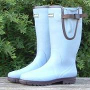 Ladies Petrol Blue Evercreatures Neoprene Wider Fitting Wellies