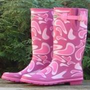 Ladies Evercreatures Cool Pink Wellington Boots