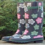 Ladies Evercreatures Gingham Wellington Boots
