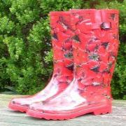 Ladies Strawberries Funky Festival Wellies