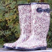 Ladies Animal Print Kingsonic Wellington Boots