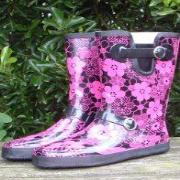 Ladies Pinks Shoetree Shorter Length Wellies