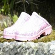 Ladies Pink Floral Lakeland Mules