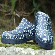 Ladies Blue Floral Lakeland Mules