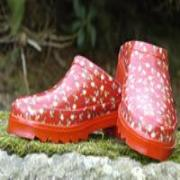 Ladies Red Floral Lakeland Mules