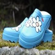 Ladies Blue Daisy Lakeland Mules