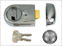 Y3 Nightlatch Modern Polished Chrome Finish 60mm Backset Visi