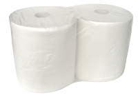 Maxi 2 Ply White Giant Wiper Rolls (2 rolls)