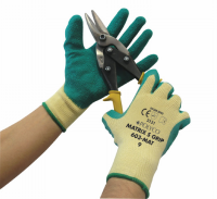 Matrix S Grip Work Gloves, Seamless Polycotton Shell with Latex Palm Coating, 12 pairs