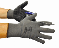 Matrix D Grip Work Gloves - PVC Coated Gloves with Seamless Knitted Shell, 12 pairs