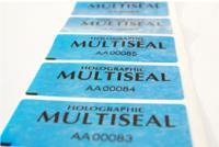 Security Labels Multi Seal Roll of 1,000 Labels. Colour Blue