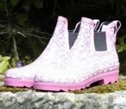 Ladies Pink Floral Lakeland Rainboots