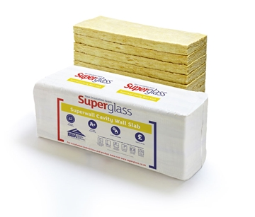 Superglass insulation ltd superglass thermal acoustic for Blown mineral wool cavity insulation